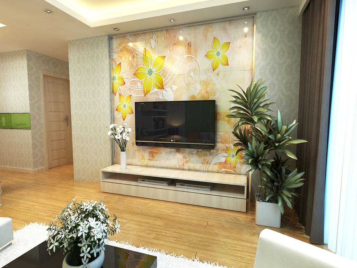 我的电视瓷砖背景墙