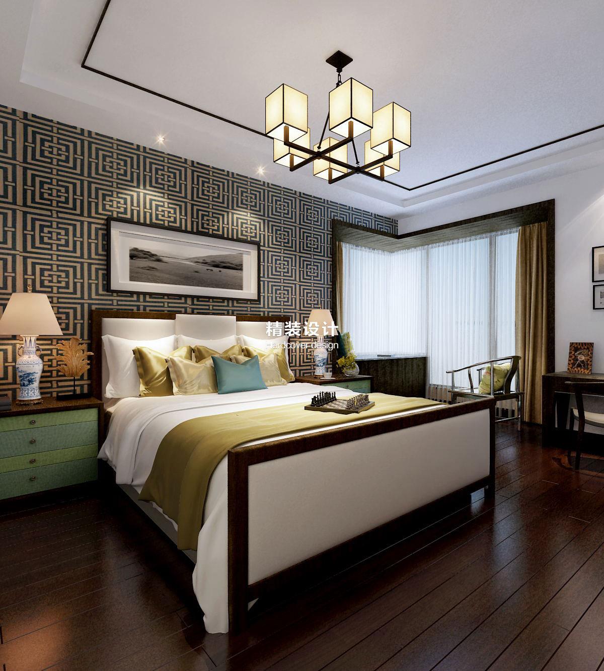 意墅蓝山130平方新中式装修设计效果图